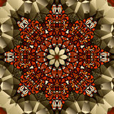 Σχέδιο καλειδοσκόπιων Σύμβολο λουλουδιών λωτού Mandala Στοκ εικόνες με δικαίωμα ελεύθερης χρήσης