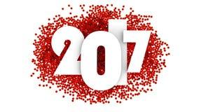 Σχέδιο κειμένων καλής χρονιάς 2017 τρισδιάστατη απεικόνιση ελεύθερη απεικόνιση δικαιώματος