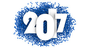 Σχέδιο κειμένων καλής χρονιάς 2017 τρισδιάστατη απεικόνιση απεικόνιση αποθεμάτων