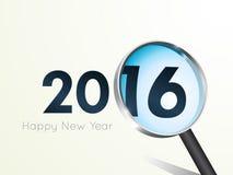 Σχέδιο κειμένων καλής χρονιάς 2016 Στοκ Εικόνες