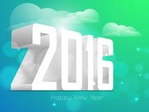 Σχέδιο κειμένων καλής χρονιάς 2016 Στοκ φωτογραφία με δικαίωμα ελεύθερης χρήσης