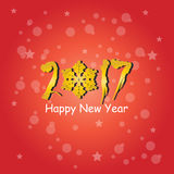 Σχέδιο κειμένων καλής χρονιάς 2017 Στοκ εικόνες με δικαίωμα ελεύθερης χρήσης