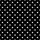 Σχέδιο κεραμιδιών με τα άσπρα σημεία Πόλκα στο μαύρο υπόβαθρο διανυσματική απεικόνιση