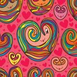 Σχέδιο κινούμενων σχεδίων αγάπης που σύρει το άνευ ραφής σχέδιο Στοκ Εικόνες