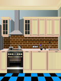 Σχέδιο κουζινών Στοκ φωτογραφία με δικαίωμα ελεύθερης χρήσης