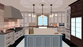 Σχέδιο κουζινών Στοκ εικόνα με δικαίωμα ελεύθερης χρήσης
