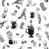 Σχέδιο κρασιού Χριστουγέννων Στοκ Εικόνα