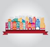 Σχέδιο κτηρίων πόλεων Στοκ Φωτογραφία