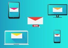Σχέδιο μάρκετινγκ ηλεκτρονικού ταχυδρομείου Στοκ φωτογραφία με δικαίωμα ελεύθερης χρήσης