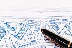 Σχέδιο μελανιού στοκ εικόνες με δικαίωμα ελεύθερης χρήσης