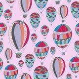 Σχέδιο με τα αερόστατα Στοκ εικόνες με δικαίωμα ελεύθερης χρήσης