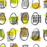 Σχέδιο με τα αυγά Σχέδιο έλλειψης Στοκ Φωτογραφία