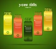 Σχέδιο με τα εμβλήματα έτους διανυσματική απεικόνιση