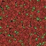 Σχέδιο με τα κόκκινα τριαντάφυλλα Στοκ Εικόνες