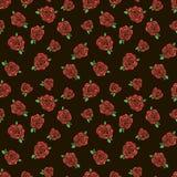 Σχέδιο με τα κόκκινα τριαντάφυλλα Στοκ φωτογραφία με δικαίωμα ελεύθερης χρήσης