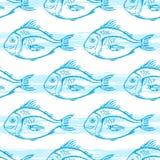 Σχέδιο με τα μπλε ψάρια Στοκ εικόνες με δικαίωμα ελεύθερης χρήσης