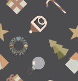 σχέδιο με τα νέα εικονίδια εορτασμού έτους Στοκ Φωτογραφία