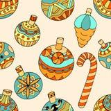 Σχέδιο με τα παιχνίδια Χριστουγέννων Στοκ φωτογραφίες με δικαίωμα ελεύθερης χρήσης