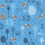 σχέδιο με τα πουλιά Στοκ Φωτογραφίες