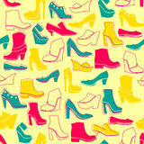 Σχέδιο με τα πολύχρωμα διαφορετικά είδη παπουτσιών Στοκ εικόνες με δικαίωμα ελεύθερης χρήσης