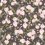 Σχέδιο με τα ρόδινα τριαντάφυλλα κρητιδογραφιών Στοκ εικόνα με δικαίωμα ελεύθερης χρήσης