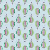 Σχέδιο με τα στοιχεία αερόστατων Στοκ εικόνα με δικαίωμα ελεύθερης χρήσης