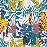 Σχέδιο με τα τροπικά φύλλα Στοκ Εικόνα