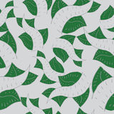 Σχέδιο με τα φύλλα και τις γραμμές Στοκ φωτογραφία με δικαίωμα ελεύθερης χρήσης