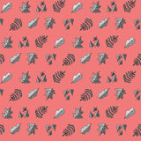 Σχέδιο με τα φύλλα σε ένα ρόδινο υπόβαθρο Στοκ εικόνες με δικαίωμα ελεύθερης χρήσης