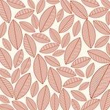 Σχέδιο με τα φύλλα Στοκ εικόνες με δικαίωμα ελεύθερης χρήσης
