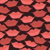 Σχέδιο με τα χείλια σε ένα χαμόγελο Στοκ Εικόνες