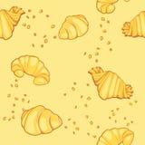 Σχέδιο με τα croissants Στοκ Εικόνες