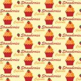 Σχέδιο με τα cupcakes Στοκ φωτογραφία με δικαίωμα ελεύθερης χρήσης