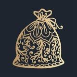 σχέδιο με τη floral διακόσμηση δαντελλών για τη συλλογή Χριστουγέννων Στοκ φωτογραφία με δικαίωμα ελεύθερης χρήσης