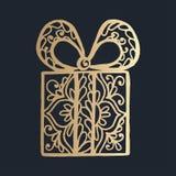 σχέδιο με τη floral διακόσμηση δαντελλών για τη συλλογή Χριστουγέννων Στοκ Φωτογραφία