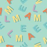 Σχέδιο με τις ζωηρόχρωμες επιστολές ελεύθερη απεικόνιση δικαιώματος