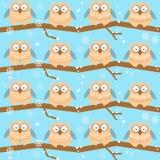 Σχέδιο με τις διαφορετικές κουκουβάγιες στοκ εικόνα με δικαίωμα ελεύθερης χρήσης