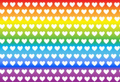 Σχέδιο με τις καρδιές στα ζωηρόχρωμα υπόβαθρα, διάνυσμα Στοκ Εικόνες
