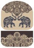 Σχέδιο με τον ελέφαντα του σχεδίου χρημάτων πορτοφολιών Στοκ Εικόνα