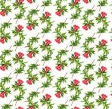 Σχέδιο με τον κλάδο λουλουδιών ροδιών Στοκ εικόνα με δικαίωμα ελεύθερης χρήσης