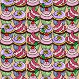 Σχέδιο με το cupcake Στοκ Εικόνα