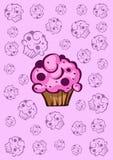 Σχέδιο με το cupcake Στοκ Εικόνες