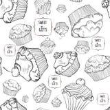 Σχέδιο με muffins Στοκ Φωτογραφίες