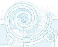 Σχέδιο με twirl Στοκ εικόνα με δικαίωμα ελεύθερης χρήσης