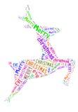 Σχέδιο μορφής λέξης ταράνδων με το κείμενο. Στοκ Εικόνες