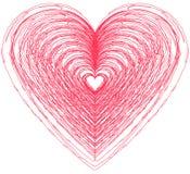 Σχέδιο μορφής καρδιών για τα σύμβολα αγάπης Στοκ εικόνες με δικαίωμα ελεύθερης χρήσης