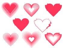 Σχέδιο μορφής καρδιών για τα σύμβολα αγάπης Στοκ φωτογραφία με δικαίωμα ελεύθερης χρήσης