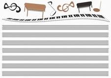 Σχέδιο μουσικής Στοκ εικόνα με δικαίωμα ελεύθερης χρήσης