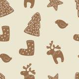 Σχέδιο μπισκότων Χριστουγέννων Στοκ Εικόνες