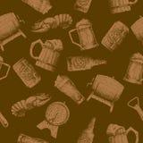 Σχέδιο μπύρας σκίτσων Στοκ Φωτογραφίες